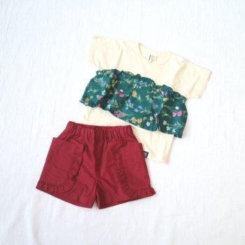nino【セット販売】Tシャツ+パンツ|アイボリ+ワイン|100-150cm