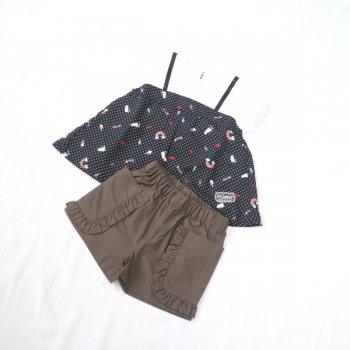 nino【セット販売】Tシャツ+パンツ|ブラック+モカチャ|90-140cm