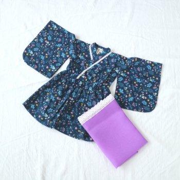 nino 浴衣ワンピース|ネイビー|80-110cm