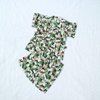 nino 動物pt甚平スーツ|カーキ|80-100cm