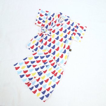 nino pt甚平スーツ|オフホワイト|80-120cm