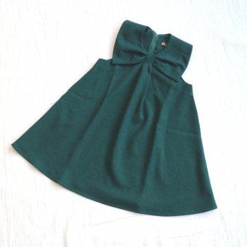 サージ衿付き ジャンスカ|グリーン|90-150cm