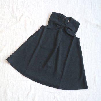 サージ衿付き ジャンスカ|チャコール|90-150cm