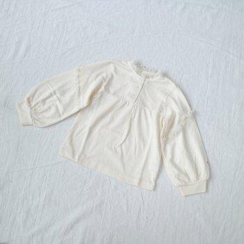ボリューム袖 フリルTシャツ|オフホワイト|100-120cm