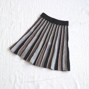 フレアーKNIT スカート|ブラック|レディース