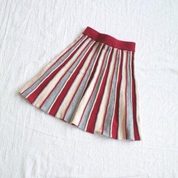 フレアーKNIT スカート|ディープレッド|レディース