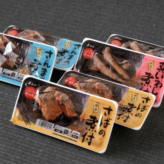 三陸女川、国産煮付3種6個入りセット