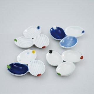 葉型三種皿(4柄)