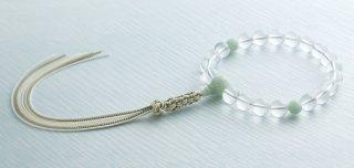 水晶20片手 華彫翡翠仕立 かざり紐房