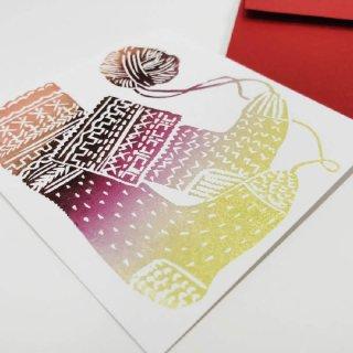 メッセージ・カード 靴下の商品画像