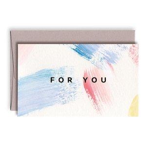 手描きのメッセージカード[パステル]S