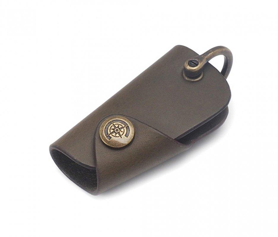 ボタンフックキーケース (リスシオ) [カーキ] / Button Hook Key Case [KHAKI]
