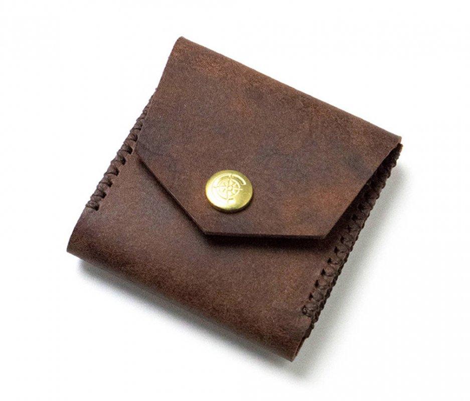 スクエアコインケース [ブラウン] / Square Coin Case [BROWN]