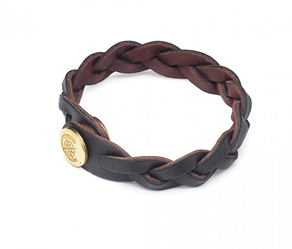 リバーシブルブレスレット [ブラック×ブラウン] / Reversible Bracelet [BLACK×BROWN]