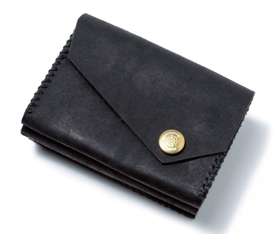 三つ折り財布 [ブラック] / Mini Wallet [BLACK]