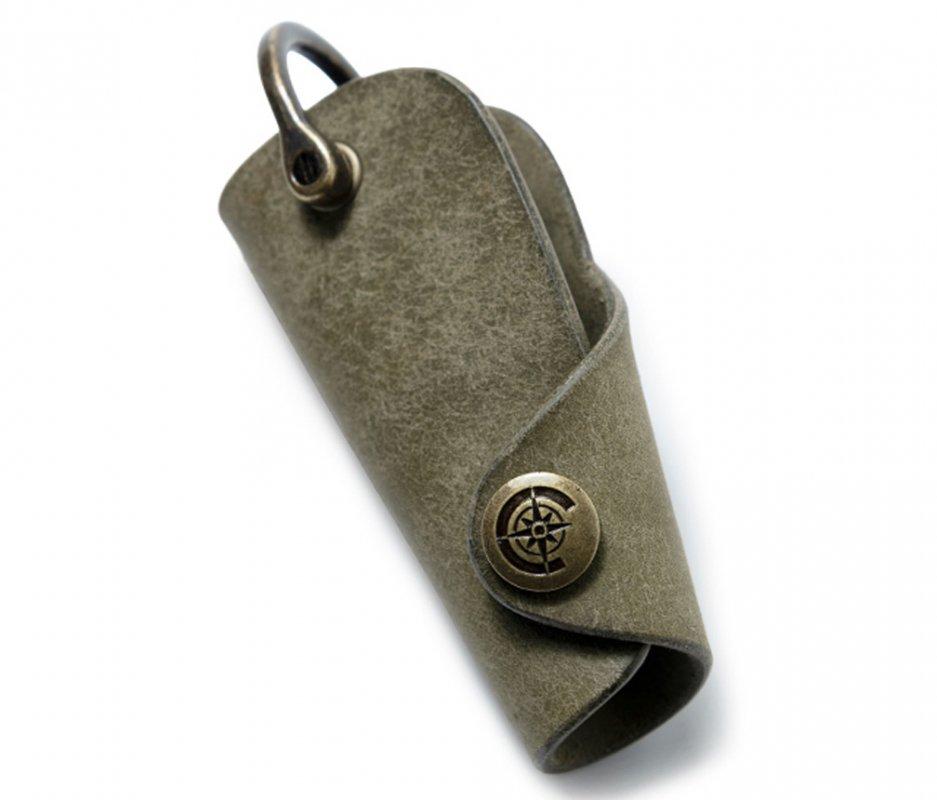 ボタンフックキーケースL [カーキ] / Button Hook Key Case L [KAHKI]