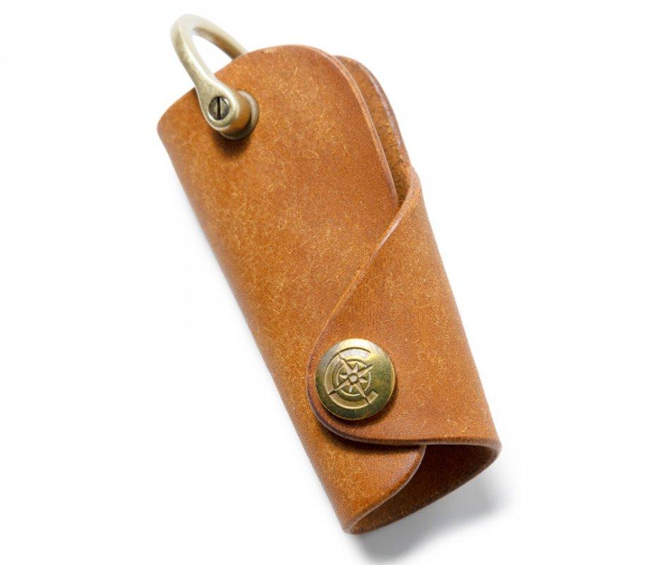 ボタンフックキーケースL [キャメル] / Button Hook Key Case L [CAMEL]