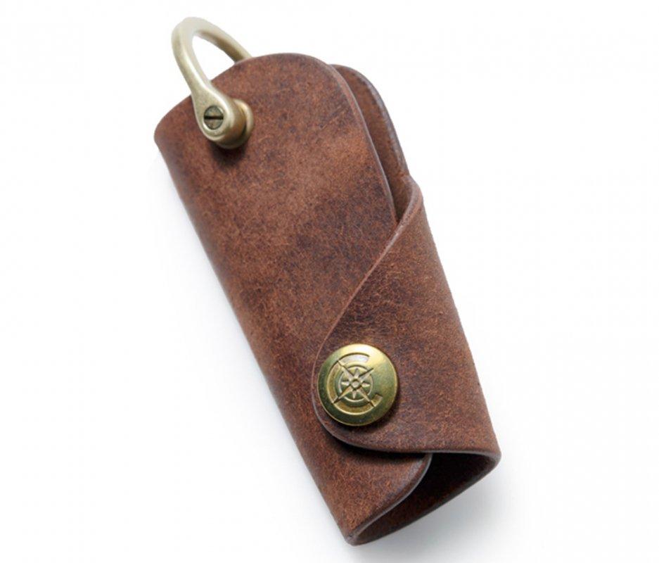 ボタンフックキーケースL [ブラウン] / Button Hook Key Case L [BROWN]