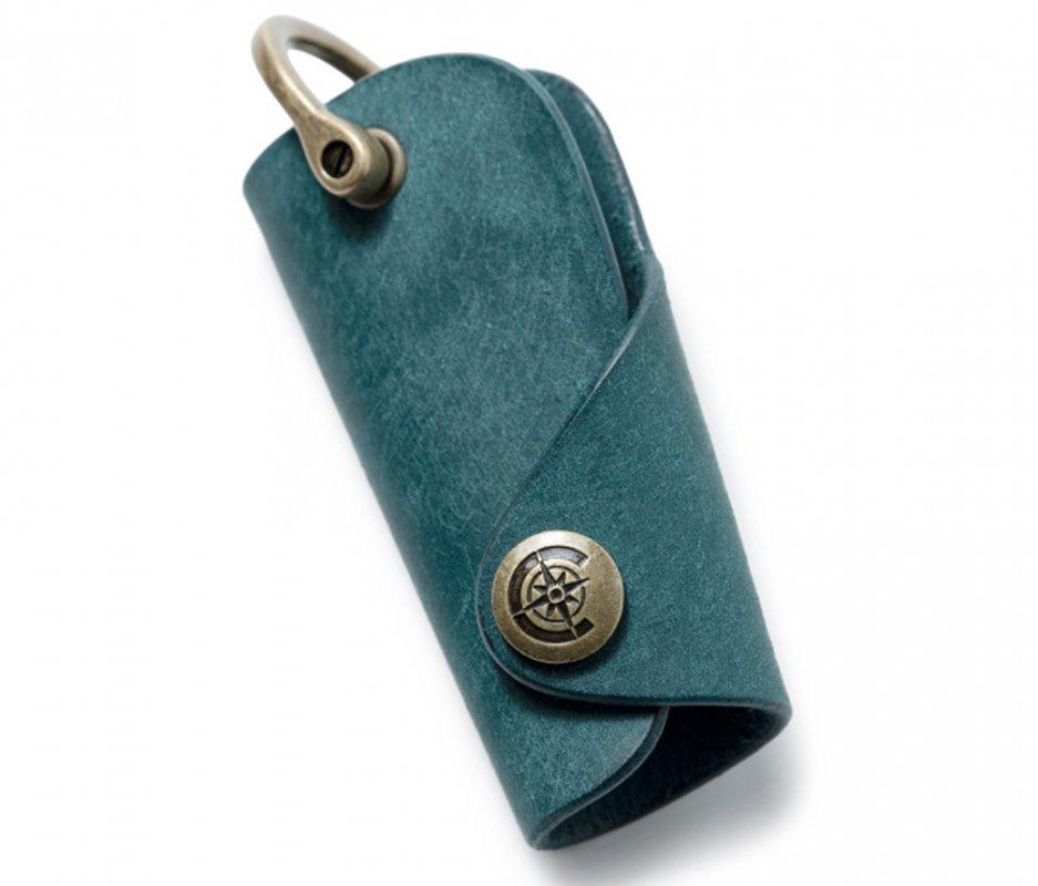 ボタンフックキーケースL [ブルー] / Button Hook Key Case L [BLUE]