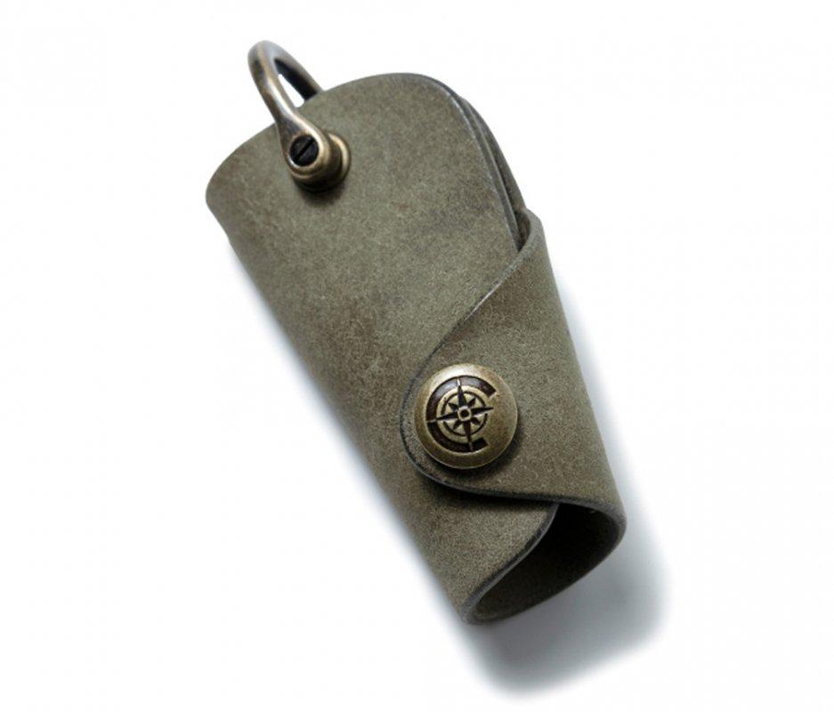 ボタンフックキーケースS [カーキ] / Button Hook Key Case S [KAHKI]