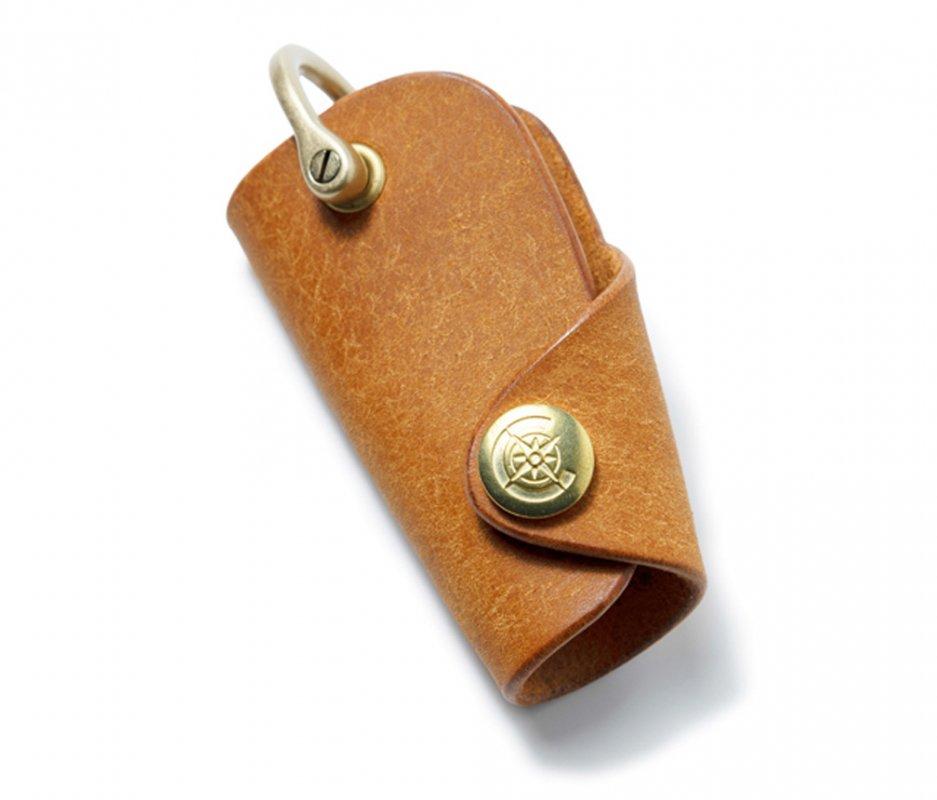 ボタンフックキーケースS [キャメル] / Button Hook Key Case S [CAMEL]