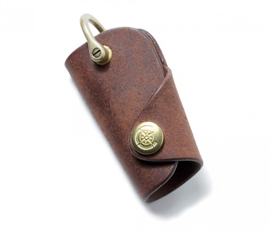 ボタンフックキーケースS [ブラウン] / Button Hook Key Case S [BROWN]