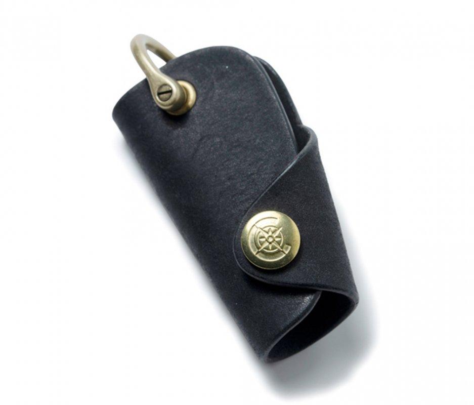 ボタンフックキーケースS [ブラック] / Button Hook Key Case S [BLACK]