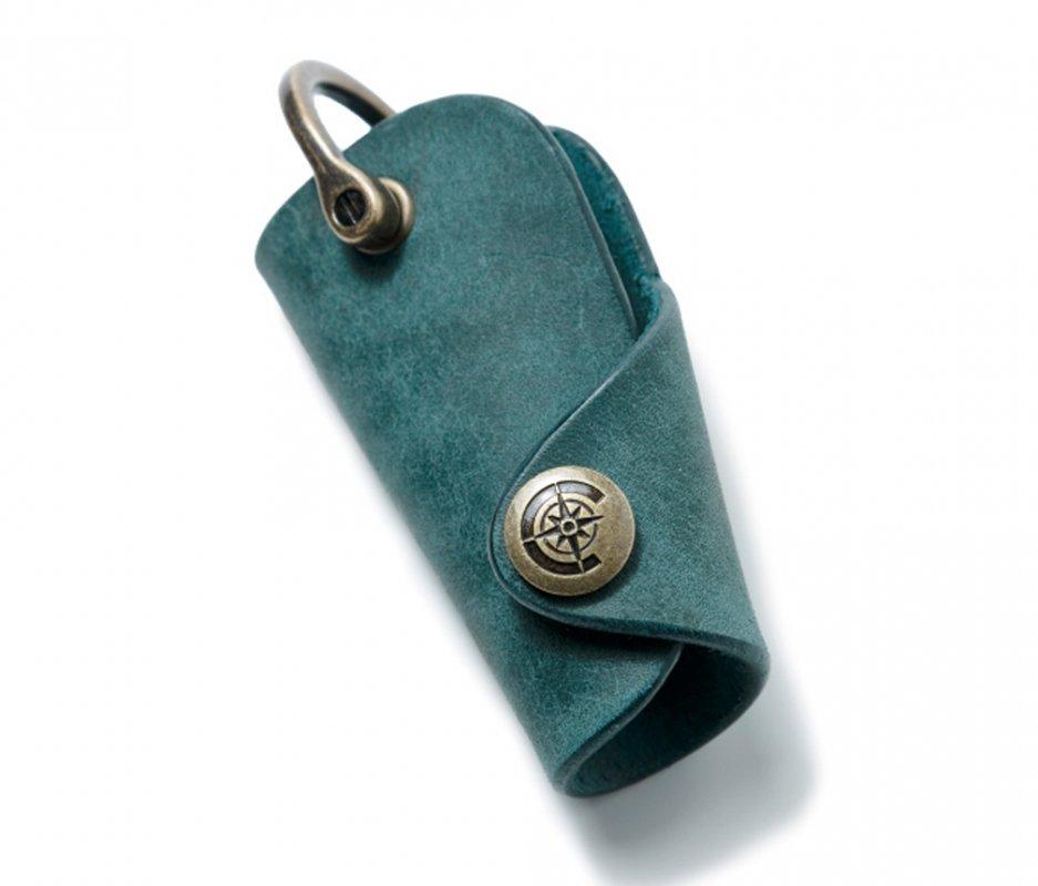 ボタンフックキーケースS [ブルー] / Button Hook Key Case S [BLUE]