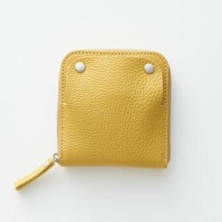 S h r i n k|くちなしの色衣(黄)|ソフトシュリンク牛革|特許取得|スマートキー・財布・キーケースがほぼ全部入るフワフワ本革ケース