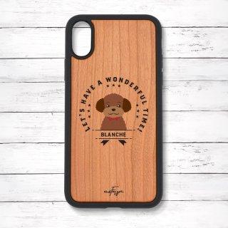 トイプードル(Emblem) 衝撃吸収タイプ 木製iPhoneケース