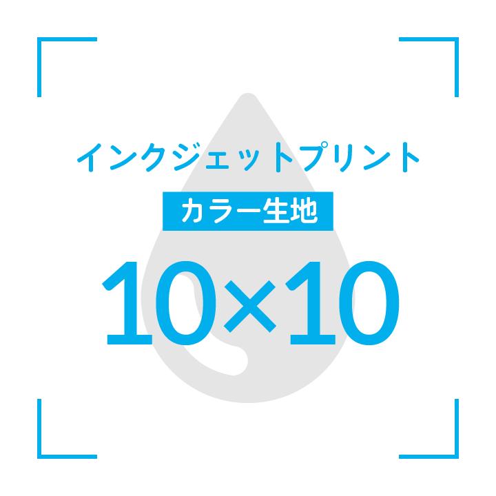 インクジェットプリント  デザイン10cmx10cm                      カラー生地 〜10枚