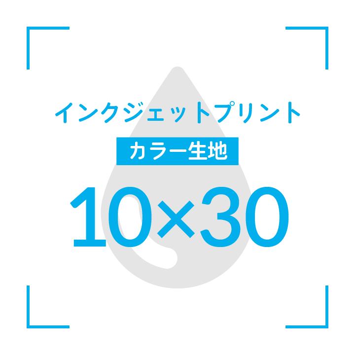 インクジェットプリント  デザイン10cmx30cm                      カラー生地 〜10枚
