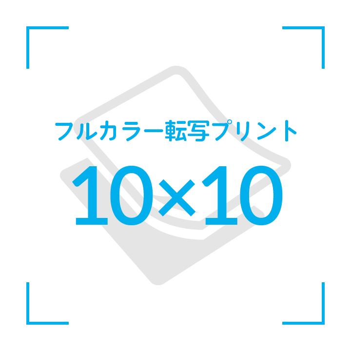 カラー転写プリント    デザイン10cmx10cm                       〜10枚