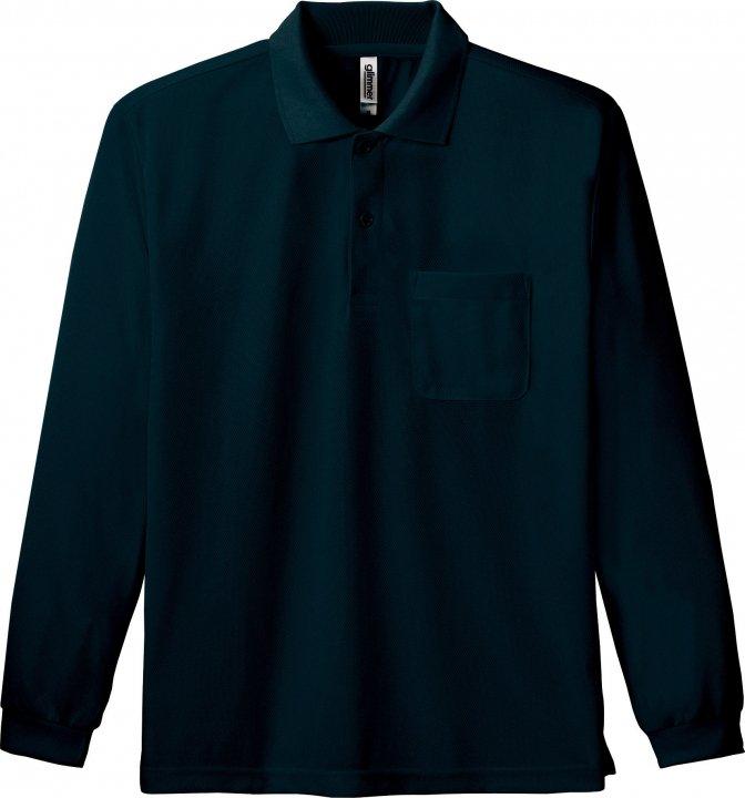 4.4オンス ドライ長袖ポロシャツ 00335-ALP
