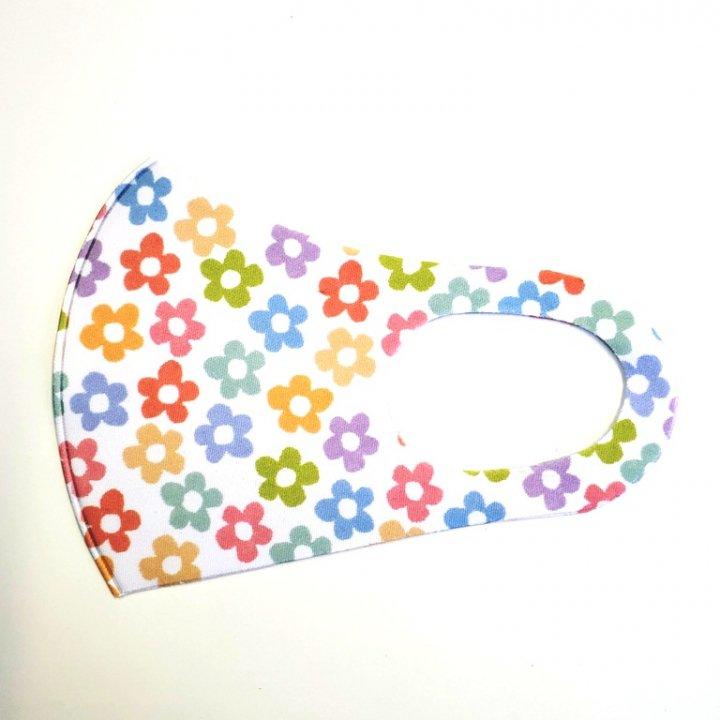 atelierKオリジナル 全面印刷花柄 冷感ポリエステルマスク 1枚〜10枚