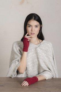 ベビーアルパカ 手袋 RITA GLOVES スカーレット
