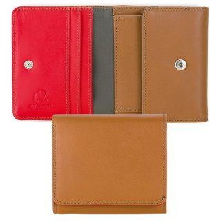 Folded Wallet With Tray Purse<br>コインパースつき2つ折ウォレット/キャラメル