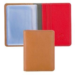 [海外取寄せ品]<br>Credit Card Holder with Inserts<br>カードホルダー/キャラメル