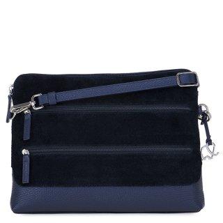 [海外取寄せ品]<br>Pompei Tri-Zip Cross Body Black<br>3ジップクロスボディ/ブルー