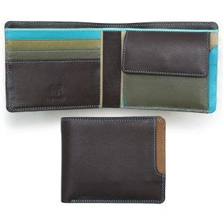 Plus-1 Standard Wallet w/Box Coin Pocket<br>Plus-1 2つ折財布/チョコレートムース