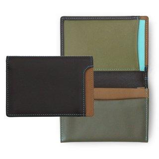 Plus-1 Name card credit card pouch<br>Plus-1 名刺入れ&クレジットカードホルダー/チョコレートムース