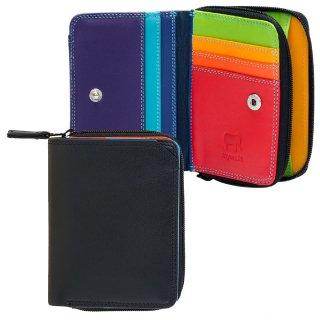Small Wallet with Zipround Purse<br>ジップパース/ブラックペース