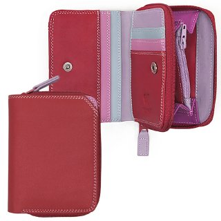 """<span style=""""color:#FF0000"""">OUTLET 40%off</span><br>Small Wallet with Zipround Purse<br>ジップパース/ルビー"""