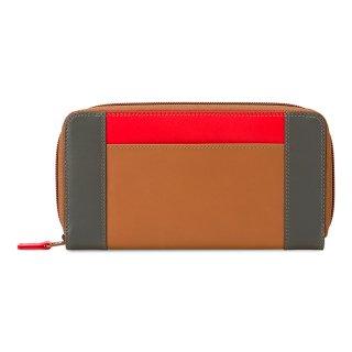 Large Zip Wallet<br>ジップラウンドパース/キャラメル