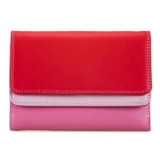 """<span style=""""color:#FF0000"""">OUTLET 40%off</span><br>Double Flap Purse/Wallet<br>ダブルフラップパースウォレット/ルビー"""