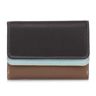 """<span style=""""color:#FF0000"""">OUTLET 40%off</span><br>Double Flap Purse/Wallet<br>ダブルフラップパースウォレット/モカ"""