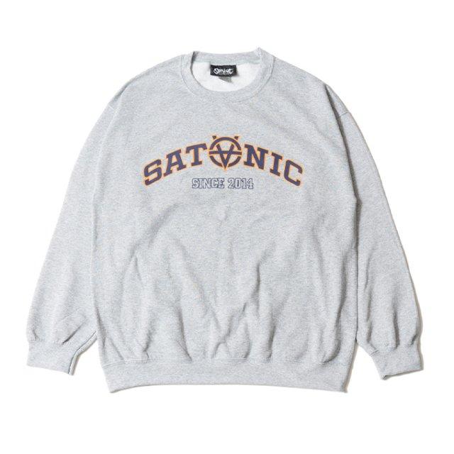 SATANIC Univ. CREW SWEAT(S.GREY)
