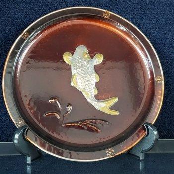飾盆金銀 鯉