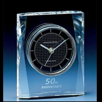 D73-04 光学ガラス製<br>電波置時計