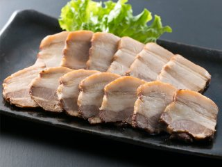 六白黒豚の焼き豚